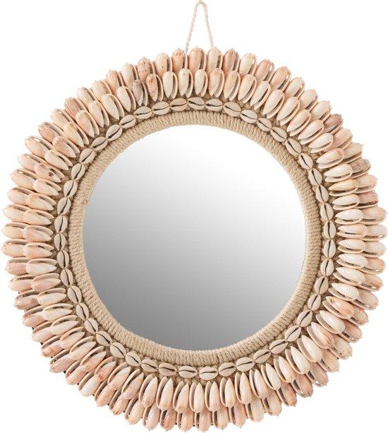 Zomerse spiegel met schelpjes